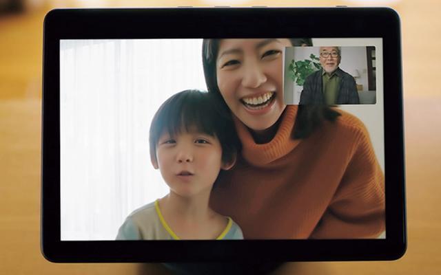 画像: 従来モデルと同様にAmazonアカウントを用いたビデオ通話が可能。話している人を自動で拡大表示する新機能を搭載している。