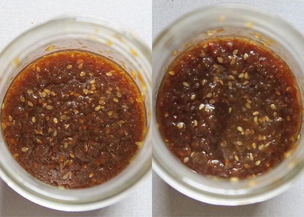 画像: 出来上がり直後(左)と3日後(右)。食べ比べると、3日後は深みが出て、まとまりのある味になりました。