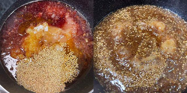 画像: 数分で煮立ってきます。ヘラなどでときどき混ぜて、焦げないように注意しましょう。