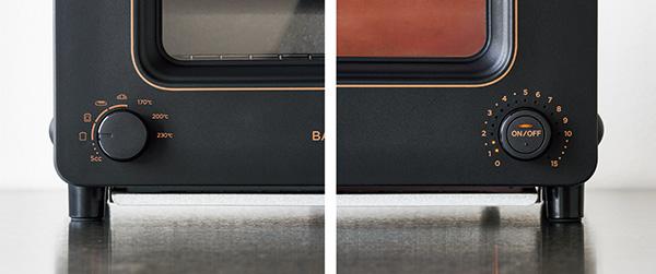 画像: 使用時は 左のダイヤルでモードを選び 、 右のタイマーで時間をセットしてスタート する。タイマーダイヤルの周囲にある目盛りが光るので、設定時間が読み取りやすい。
