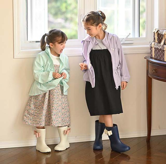 画像: サイドリボンレインブーツ www.catherine-store.com