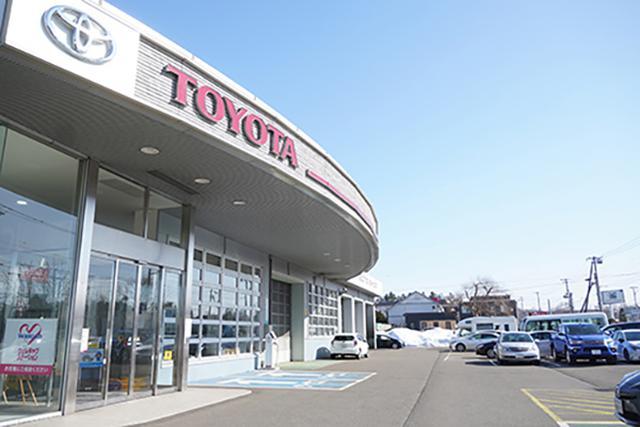 画像: 今回、お世話になった「札幌トヨタ自動車 千歳店」。細かな部分までしっかりと対応いただきました。