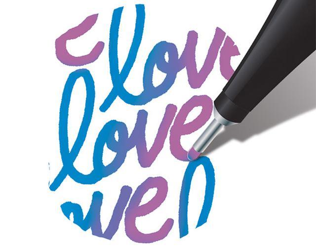 画像: ペンを持ち替えなくても色が変化する!