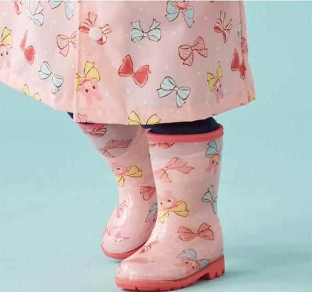 画像: 働く車&リボン レインブーツ(長靴) www.mikihouse.jp