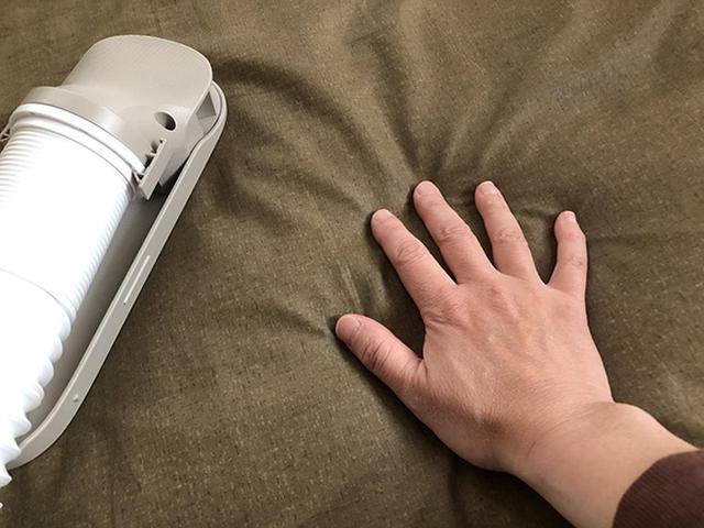 画像: 熱風とプラズマクラスターでダニを撃退。