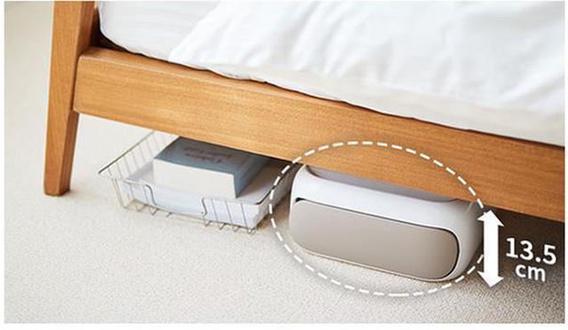 画像: 横にすればベッド下などにも収納可能。 jp.sharp