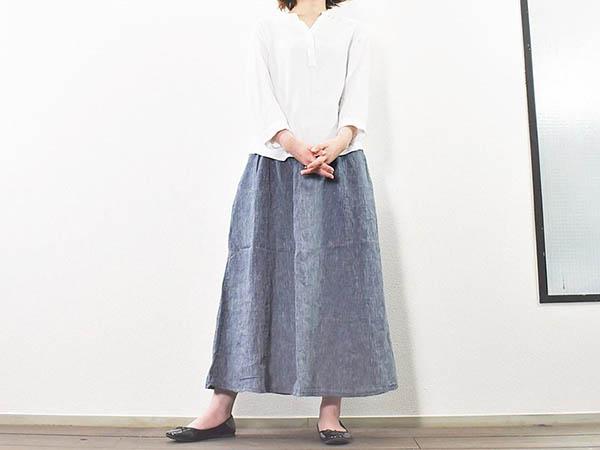 画像: 可愛らしいシルエットを目指せる「フレンチリネンギャザースカート」