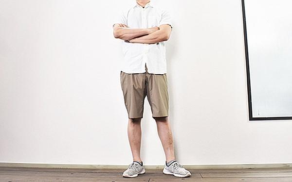 画像: 身長165cm、体重58kgの男性が着用