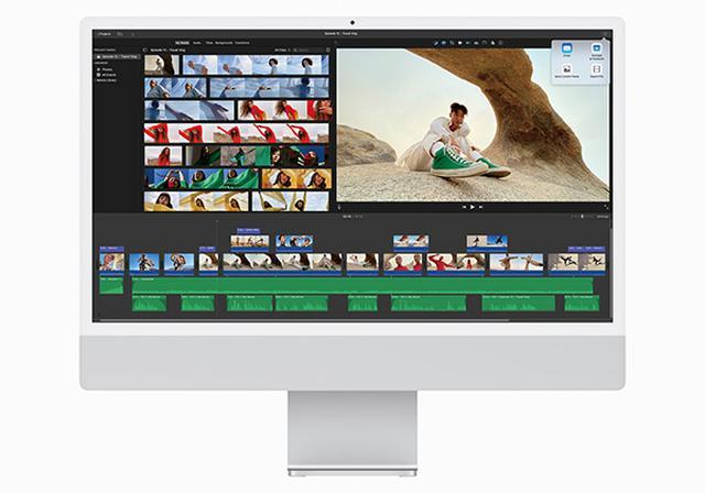 画像: 従来の21.5型iMacに比べ、CPU性能は最大85%向上。「Safari」のウェブ表示ならほぼ一瞬。高負荷な動画編集も軽快そのもの。