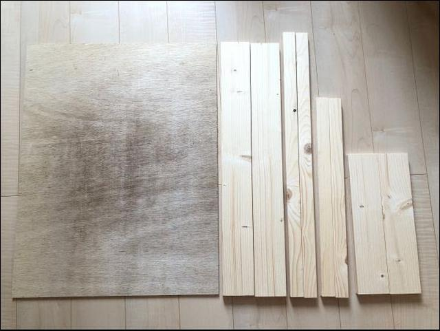 画像: 購入した木材のラインナップ