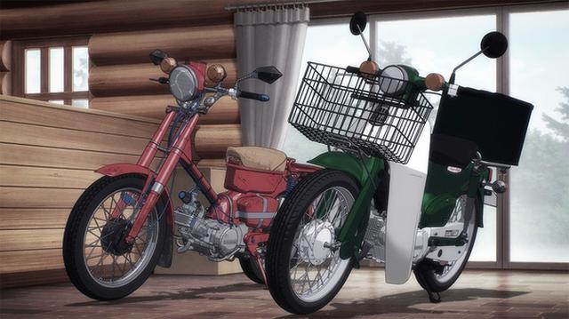 画像: スーパーカブの機能美も、本田技研協力のもと完全再現。 supercub-anime.com