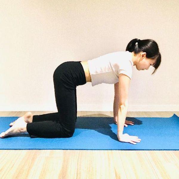 画像: 太ももと腕が床と垂直になるように。