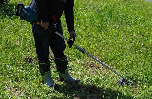 画像: 実際に草を刈ってチェック!