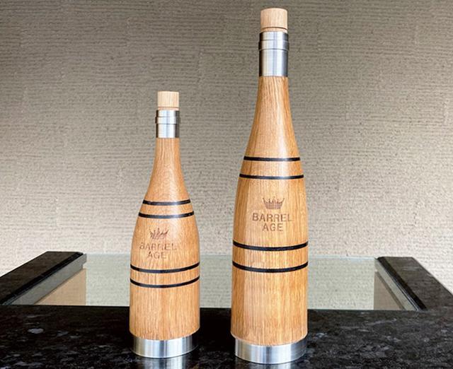 画像: ウイスキーやワイン、日本酒などの味・香りを数日間でビンテージに格上げする樽熟成ボトル