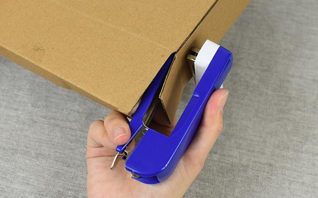 画像: なんとホッチキスで紙箱のとめ合わせまでできる