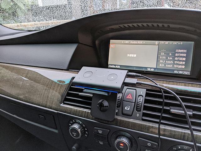 画像: Echo Autoの設置イメージ(配線が気になるところだ)