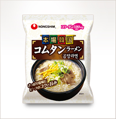 画像: 本場韓国コムタンラーメン 袋麺 www.nongshim.co.jp