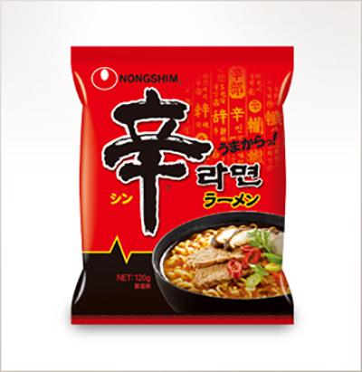 画像: 辛ラーメン 袋麺 www.nongshim.co.jp