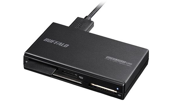 画像: 64Gバイト以上のSDカードを認識するには、最新規格となるSDXC対応のカードリーダーが必要。USBも3.0といった速い規格を採用しているものがいい。