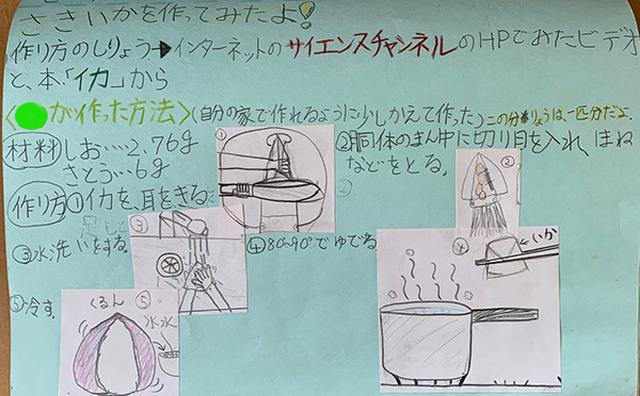 画像: 小学5年生にしてはひらがなが多い。