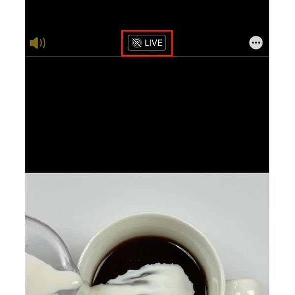 画像: Live Photosが有効のまま撮ってしまった場合はここから無効にできる。