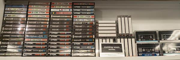 画像: 中古ブランクテープ。録音内容は消去され、コンディションもチェック済みで、安心して使える。