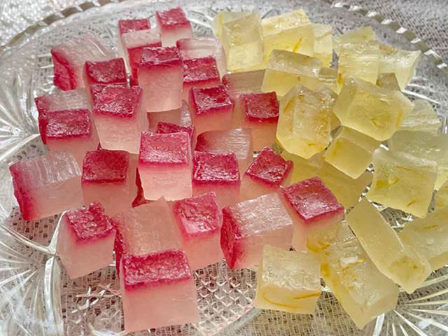 画像: ぶどうジュース寒氷、柚子ジャム寒氷(次項参照)のできあがり!