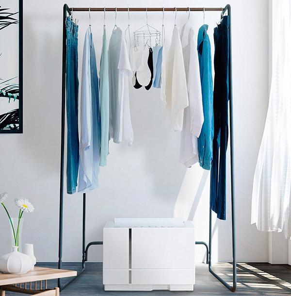 画像: 省スペースで、効率よく衣類乾燥ができる