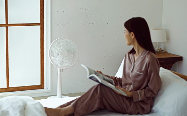 画像: 電源、風量調整などが音声で操作できる
