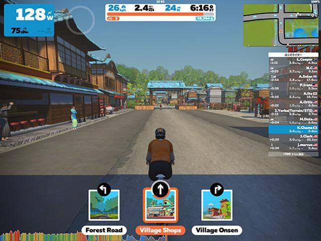 画像: 走行時間や距離、速度、ケイデンス、パワーなどの情報が表示される。