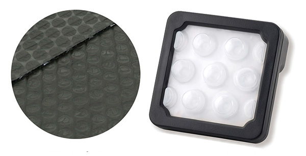 画像: 左から導電プチ、黒のプチプチ