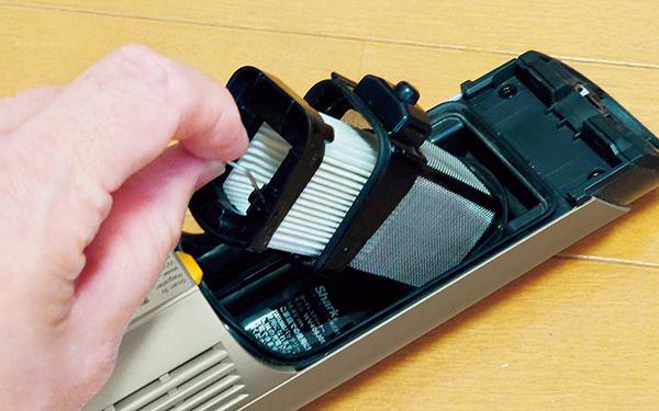 画像: フィルター容器とフィルターは、取り出して手入れができる。水洗いも可能。