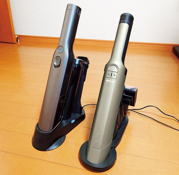 画像: 左は従来機。右は最新のEXで、本体の長さが約3センチ短くなった。
