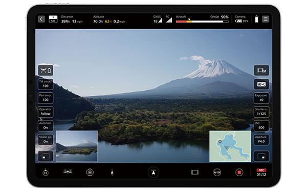 画像: iOS/iPadOS対応のフライトアプリ『Airpeak Flight』。