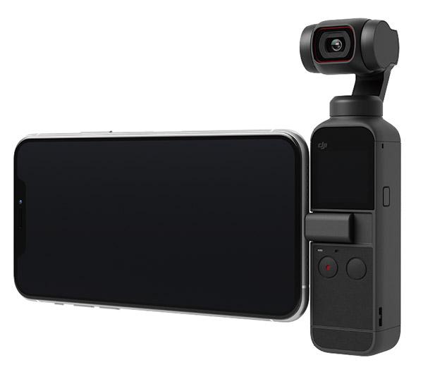 画像: スマートフォンと接続して撮影操作が可能。本体のモニターに比べて大きな画面で楽々操作できる。