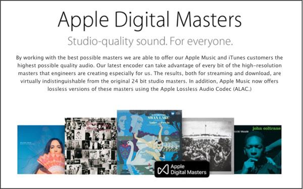 画像: Apple独自開発の「Apple Digital Masters」で高音質を実現。 www.apple.com