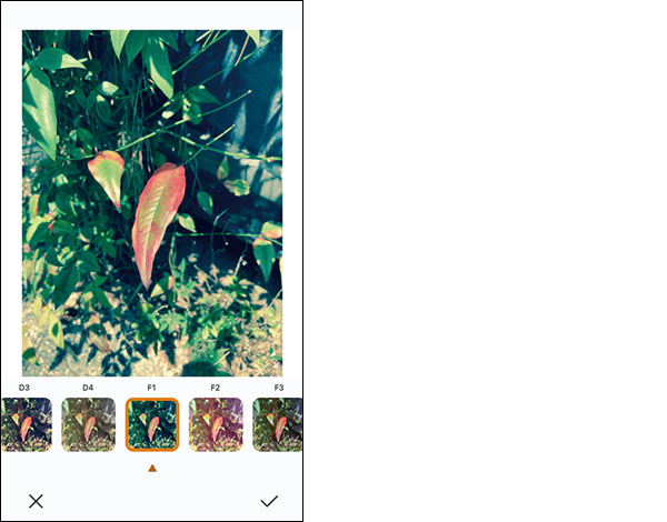 画像: 各種フィルターも標準装備。AIが決めた正確な写真だけでなく、芸術的な写真を作ることも可能。