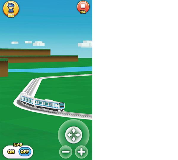画像: 走行中は視点の変更や拡大・縮小が可能。「運転」をタップすると、運転席からの視点に変わる。
