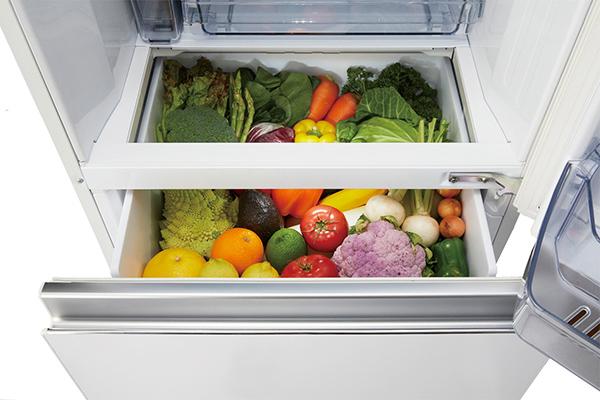 画像: 上から見渡す野菜室