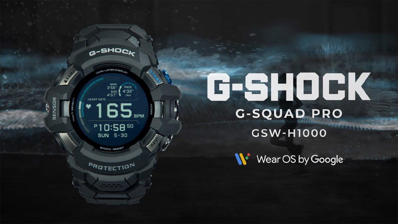画像: G-SQUAD PRO GSW-H1000 : CASIO G-SHOCK www.youtube.com