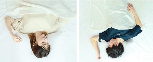 画像: 写真のように、恐らく私も快適な睡眠を得られている様に思われる。寝苦しさは今のところ感じていない。