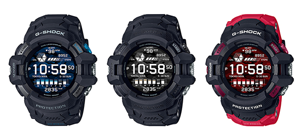 画像: 写真左から、GSW-H1000-1(ブラック×ブルー)、GSW-H1000-1A(ブラック) GSW-H1000-1A4(レッド)
