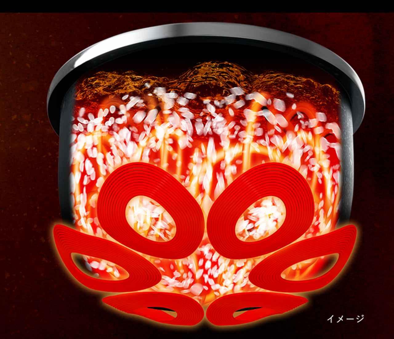 画像: 米が舞う! www.zojirushi.co.jp