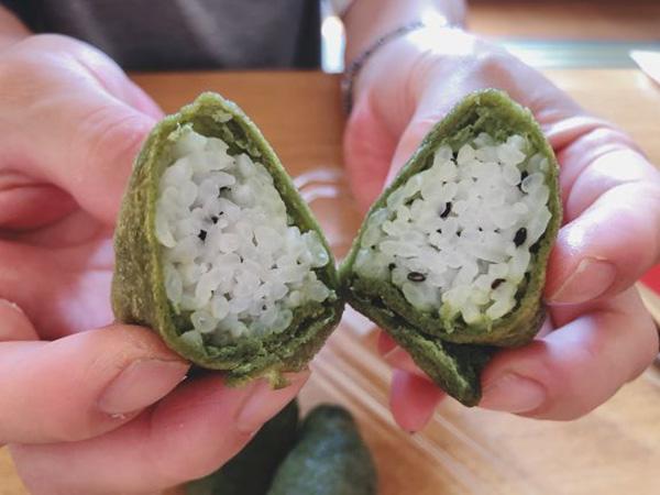 画像: ゴマの香りと食感が美味しい、すっきりした味わいのすし飯。