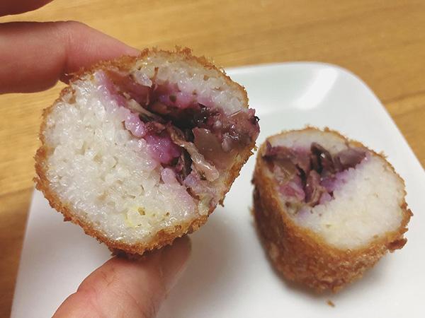 画像: 志ば漬がたっぷり入ったライスコロッケは、ツヤツヤの白米も美味しい。