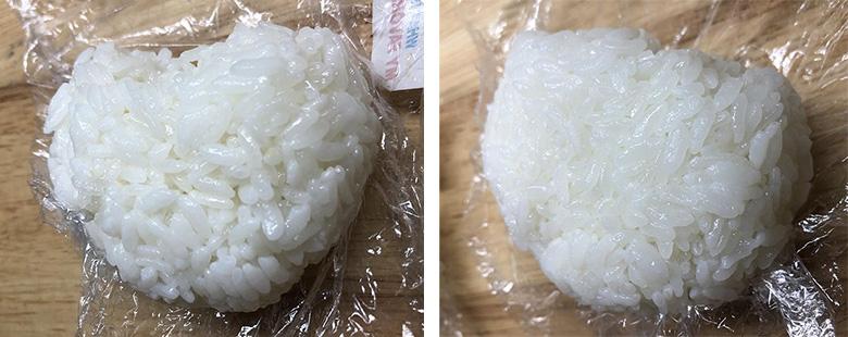 画像: 炎舞炊き(左)は一粒一粒の張りをキープ。自宅炊飯器(右)は粒同士がくっついて硬めの印象。