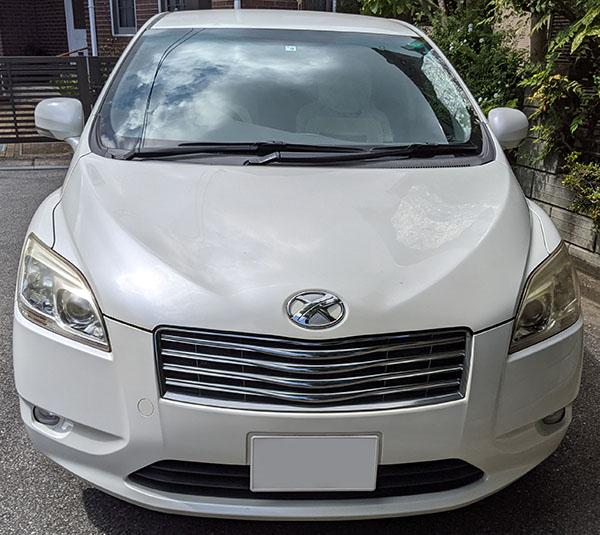 画像: 今回のサンプル車両(2011年式 トヨタマークX ジオ)ヘッドライトの黄ばみが気になる