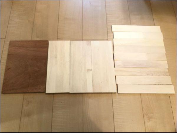 画像: 材料は木材のみです。比較的安価で揃えられました