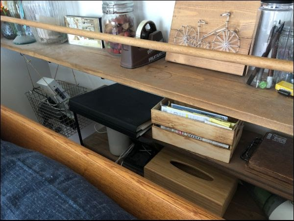 画像: ボックスと棚を採用することで綺麗に収納することができました