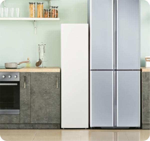 画像: 冷蔵庫の隣に置いても邪魔にならない aqua-has.com